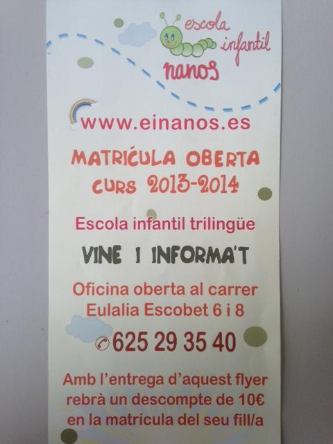 NANOS ESCOLA INFANTIL