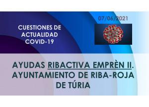 AYUDAS RIBACTIVA EMPREN II. Ayuntamiento de Riba-roja de Túria