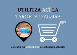 Comercios adheridos a la Targeta d'Alzira