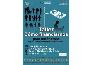 1 de juliol a les 10h a la Mancomunitat Camp de Túria  (sala Multiusos de Llíria):  Taller sobre finançament per a autònoms