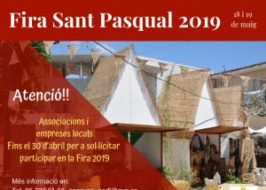 Participa en la XII Fira Tradicional de Sant Pasqual 2019