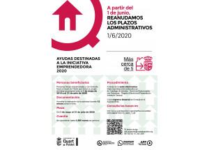 AYUDAS A LA INICIATIVA EMPRENDEDORA 2020, PROMOVIDAS POR EL AYUNTAMIENTO DE QUART DE POBLET.