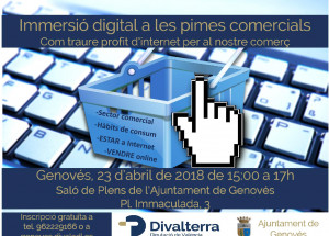 Jornada Immersió digital a les pimes comercials el 23 d'abril en Genovés