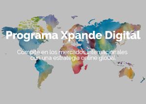 Xpande Digital: Hasta el 31/10 pueden solicitarse ayudas para apoyar el posicionamiento on-line de las empresas