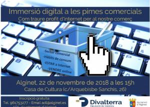 22 de novembre ena Alginet, jornada sobre INMERSIÓN DIGITAL EN LAS PYMES COMERCIALE S