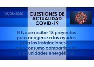 El Ivace recibe 18 proyectos para acogerse a las ayudas para las instalaciones de autoconsumo compartido en comunidades energéticas