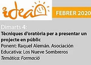 Tècniques d'oratòria per a presentar un projecte en públic organitzada per IDEA