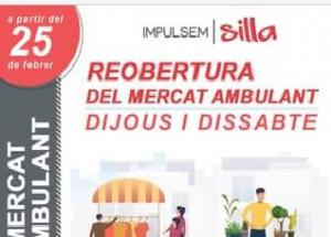 Reobertura del mercat de venda no sedentària del municipi de Silla