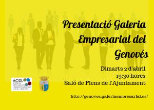 Presentación Galería Empresarial de Genovés