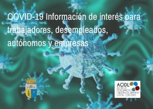 COVID19 - Informació d'interès treballadors, aturats, autònoms i empreses