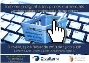 13 de febrer a Xirivella, jornada formativa sobre internet i comerç