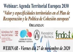 """Conclusions i materials Webinar """"Agenda Territorial Europea 2030"""""""