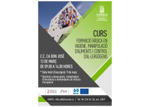 EL DIA 13 DE MARÇ DE 2018 A CANALS CURS DE MANIPULADOR D'ALIMENTS
