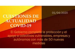 El Gobierno completa la protección y el apoyo a colectivos vulnerables, empresas y autónomos con más de 50 nuevas medidas