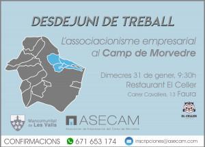 DESDEJUNI DE TREBALL, ASECAM - MANCOMUNITAT DE LES VALLS
