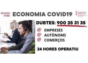 TELÈFON  CONSELLERIA PER A DUBTES-Empreses i Comerços