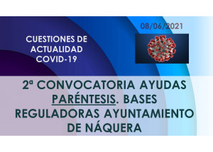 2ª CONVOCATORIA AYUDAS PARÉNTESIS. BASES REGULADORAS AYUNTAMIENTO DE NÁQUERA